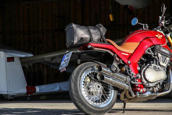 Neuer Touring-Gepäckträger für die HOREX VR6